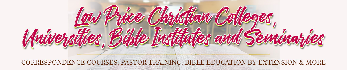 Low Price Christian Colleges